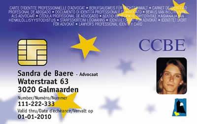 tesserino avvocato europeo