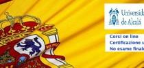 corso di spagnolo on line senza esame finale ma solo prove intercorso per tutti i livelli richiesti